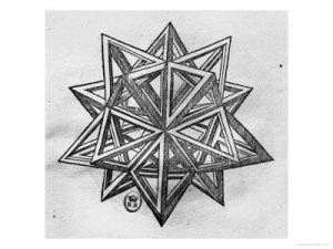 Leonardo's dodecahedron drawing
